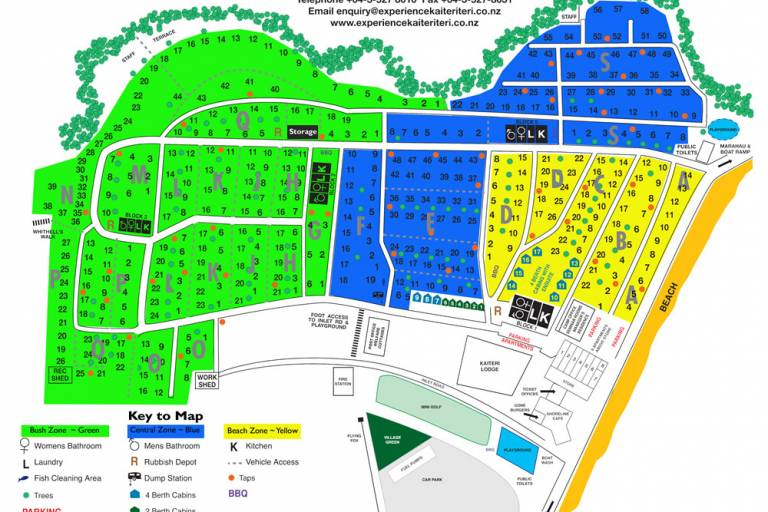 01-Kaiteriteri Reserve Camp Map Colour zones2